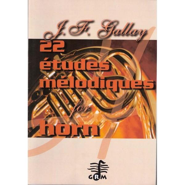 22 Etudes Melodiques for Horn