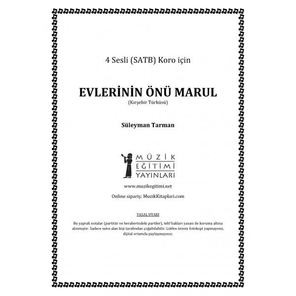 Evlerinin Önü Marul - SATB - Süleyman Tarman