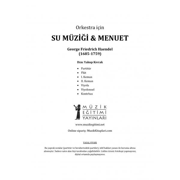 Su Müziği ve Menüet - Haendel