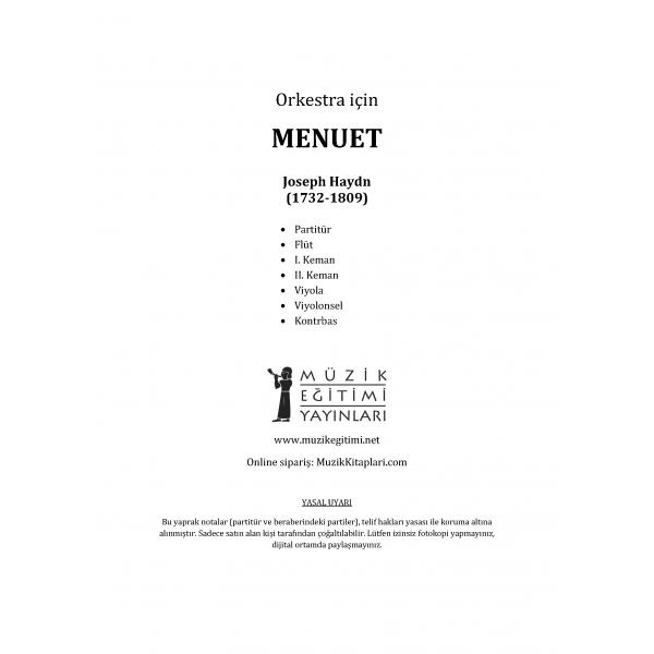 Menüet - Haydn