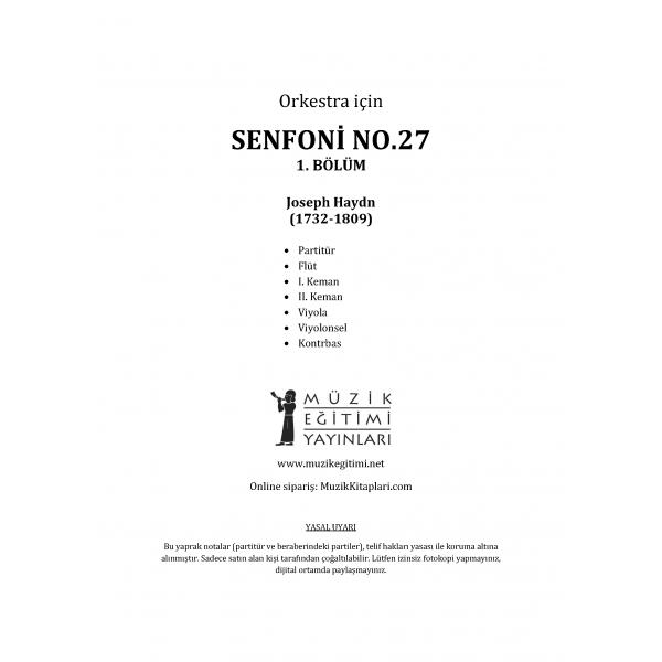 Senfoni No.27, 1. Bölüm - Haydn