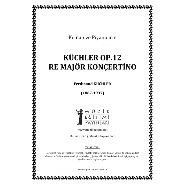 Küchler Op.12 Re Major Konçertino