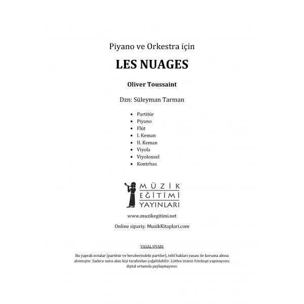 Piyano ve Orkestra için Les Nuages