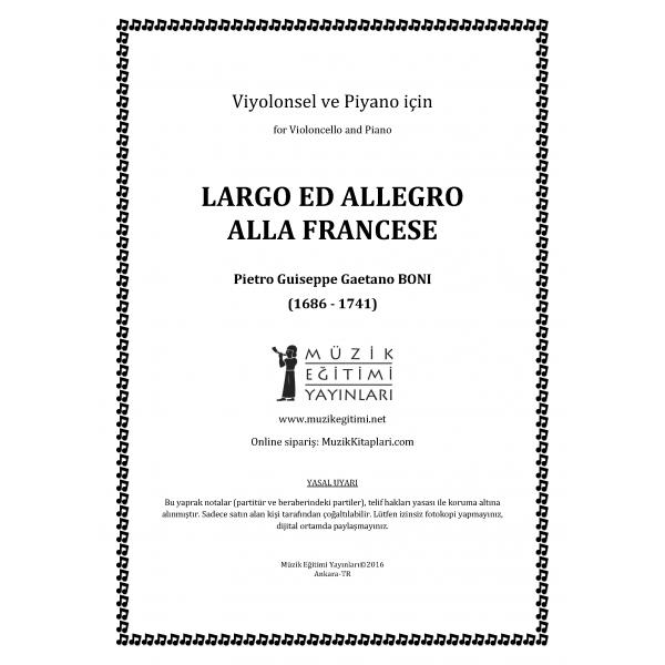 Largo ed Allegro Alla Francese, Boni