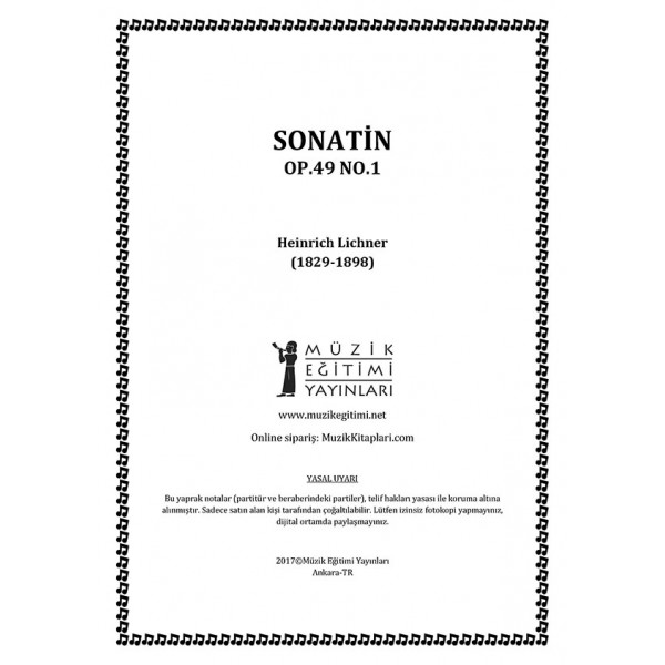 Sonatin Op.49 No.1