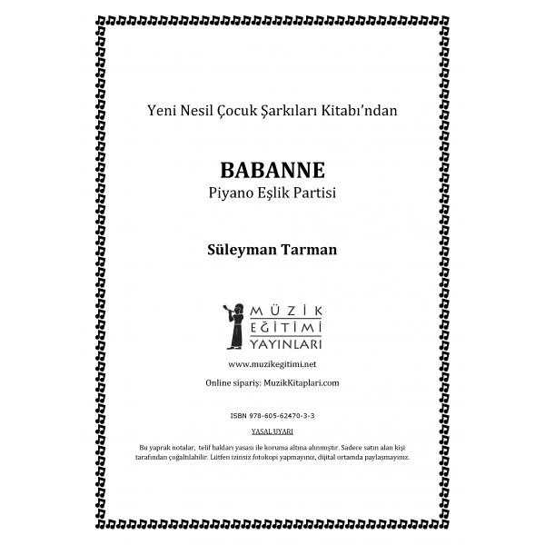 Babanne - S.Tarman - Piyano Eşlik Partisi