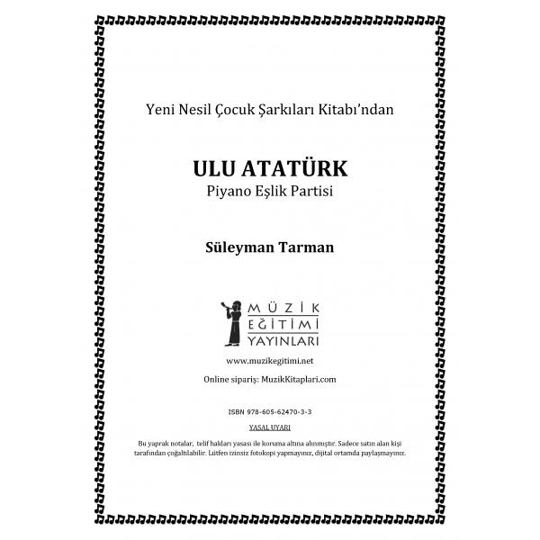 Ulu Atatürk - S.Tarman - Piyano Eşlik Partisi