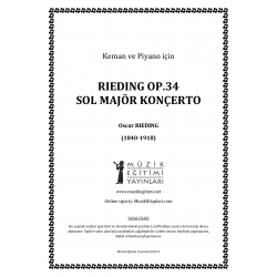 Rieding Op.34 Sol Major Konçertino