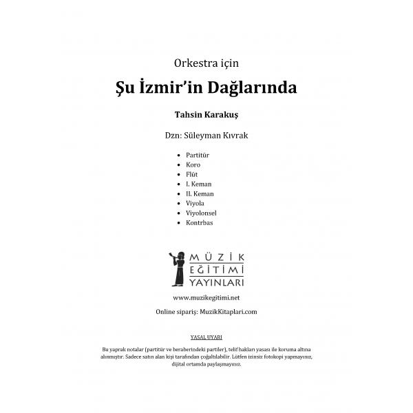 Şu İzmir'in Dağlarında - Tahsin Karakuş