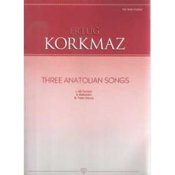 Three Anatolian Song for Guitar - Gitar için 3 Türkü
