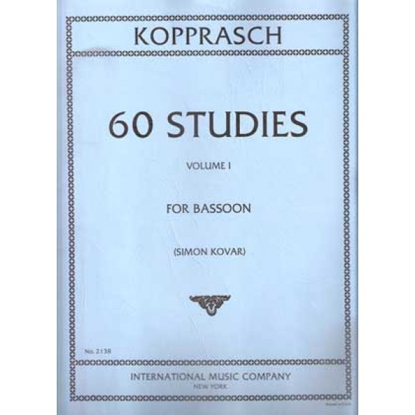 Kopprasch 60 Studies for Bassoon Volume I